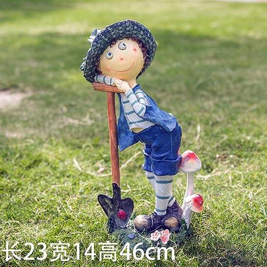 Adornos de Exterior para el jardín Adornos de Elfo de jardín Al .: 47cm@Niño: Amazon.es: Jardín
