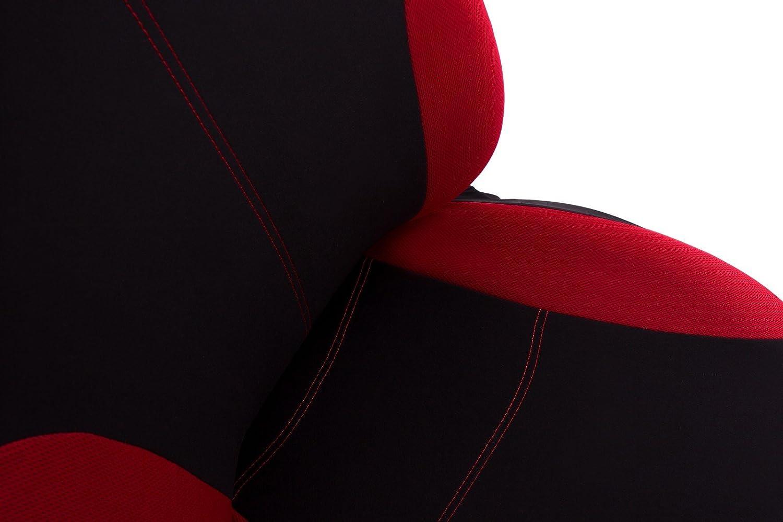Farbe Premium Schwarz gepresstes Karomuster Tigra Vorne Sitzbez/üge f/ür Fahrer und Beifahrer