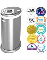 Ubbi LIMITED EDITION, Money Saving, No Special Bag Required, Steel Odor Locking Diaper Pail, Chrome