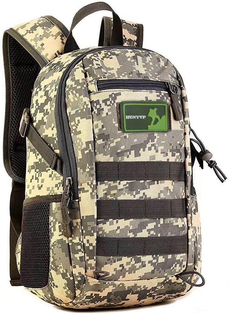 ProtectorPlus sunvp 12L Mini Mochila Militar Molle Mochila Gear Tactical Assault Pack Estudiante Bolso De Escuela para la Caza Camping Senderismo Viaje: Amazon.es: Deportes y aire libre