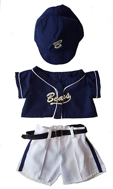 ec4688574a8 Image Unavailable. Image not available for. Color  Baseball Uniform Outfit  Teddy Bear Clothes Fit ...