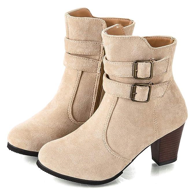 Amazon.com: Fheaven - Botas de tacón alto para mujer: Shoes