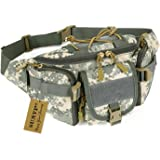 Huntvp Tactical Waist Pack Bag Military Fanny Packs WR Hip Belt Bag Pouch for Hiking Climbing Outdoor Bumbag