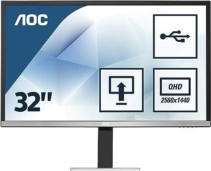 AOC Monitores Q3277PQU - Pantalla para PC de 32