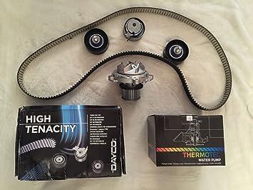 DAYCO Juego de correas dentadas + Bomba de agua Voyager / Grand Voyager RG 2001-2007 2.5CRD y 2.8CRD Motores diésel: Amazon.es: Coche y moto