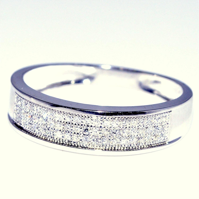 B trio wedding rings White Gold Trio Wedding Set Mens Womens Wedding Rings Matching 0 40cttw Diamond Amazon com