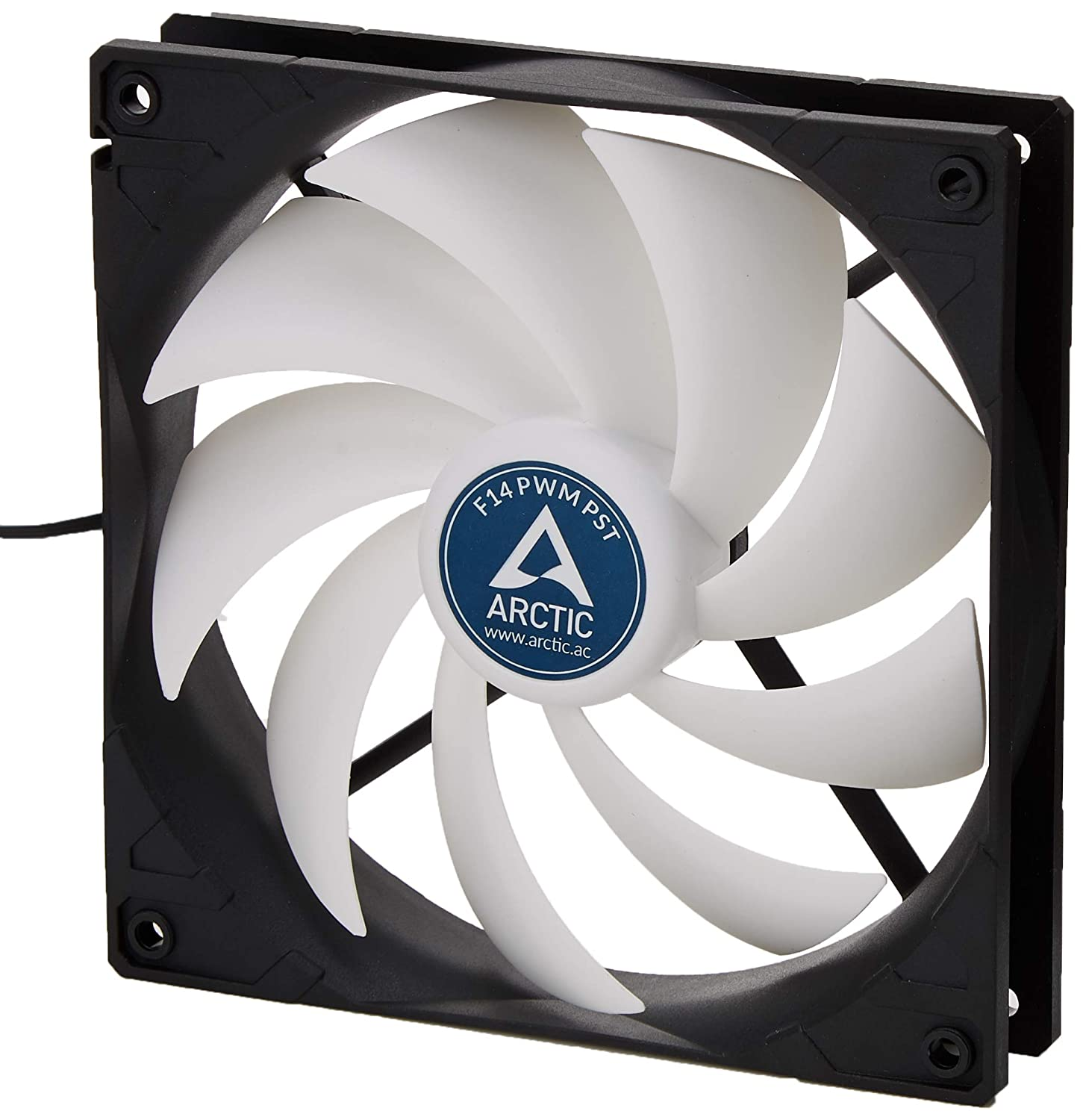 ARCTIC F14 PWM PST - 140 mm PWM PST Case Fan | Silent Cooler with Standard  Case | PST-Port (PWM Sharing Technology) | Regulates RPM in sync