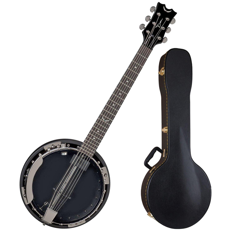 Dean BW6E BC Backwoods 6 String Acoustic Electric Banjo w/ Case