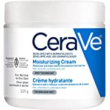 CeraVe Moisturizing Cream | Daily Face and Body Moisturizer for Dry Skin With Hyaluronic Acid | Fragrance Free, 539 Grams