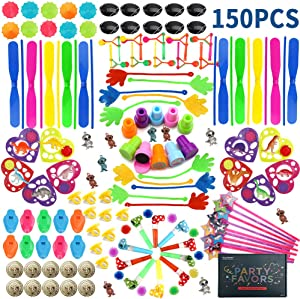 Amy&Benton 150PCS Goodie Bag Fillers Party Favors for Kids Birthday Pinata Filler Toy Assortment Prizes for Kids Classroom Rewards