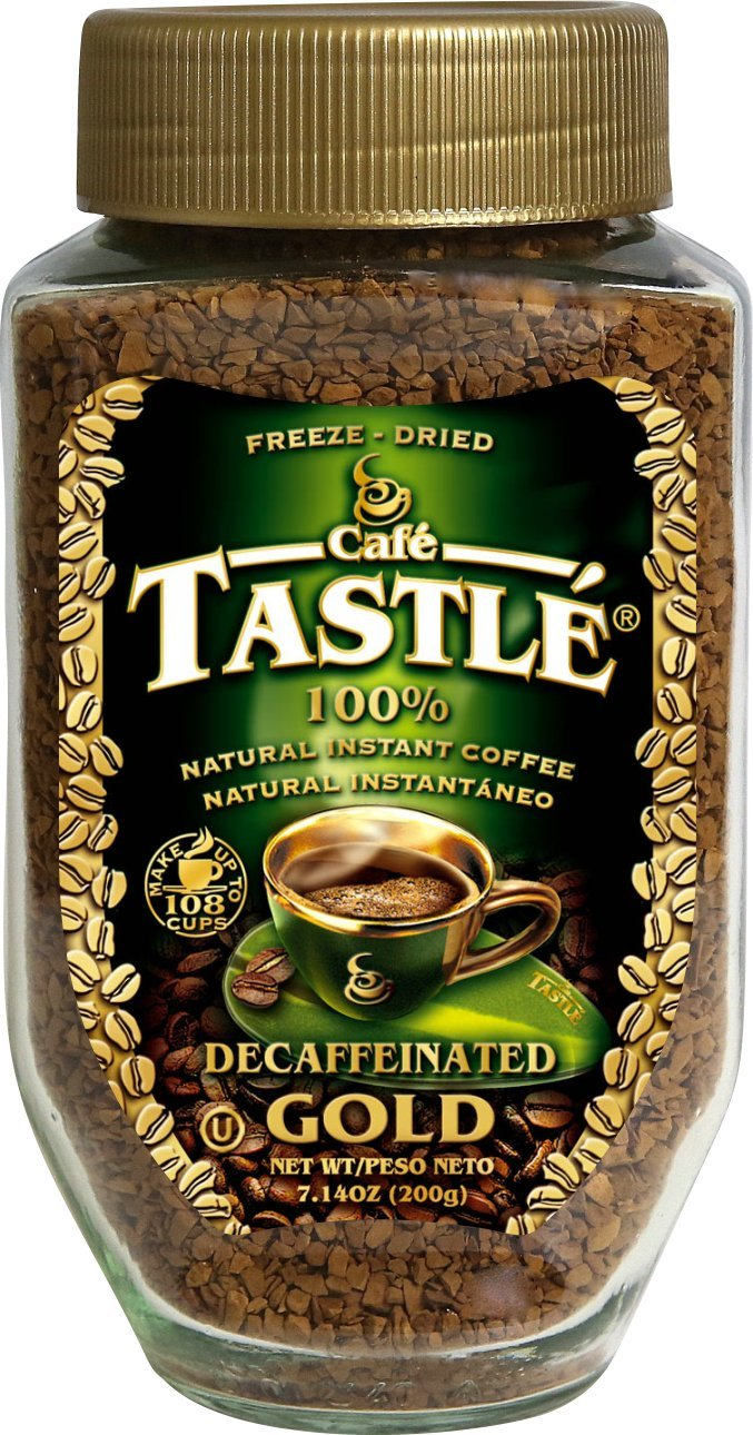 Cafe Tastle Decaffeinated Freeze Dried Instant Coffee, 7.14 Ounce