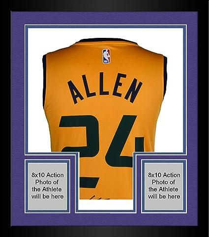 finest selection 11e76 410e7 Framed Grayson Allen Utah Jazz Autographed Fanatics Yellow ...