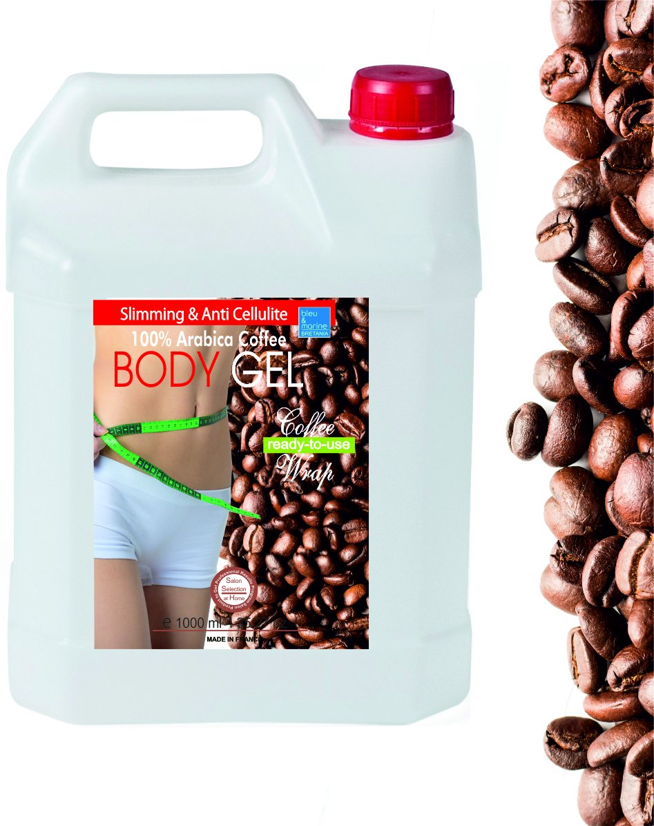 Inch-loss Body Coffee & Seaweed Wrap in Gel 1000ml ● Ready-to-Use Gel for Body and Bath ● Anti Cellulite ● Body Wrap Contour Treatment ● Helpful in treating Dermatiitis and Eczema. ● Detox, Slimming and Remineralizing Body Wrap ● Tummy Waist ● Fine an