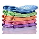 YDO マイクロファイバー 雑巾 用途多数 掃除用品 クリーニング 速乾タオル 強力吸水 毛を抜けない 洗って繰り返し使える 5枚