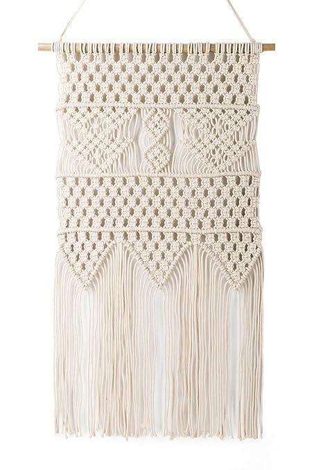 Amazon.com: Macrame Wall Hanging Tapestry - BOHO Chic Home ...