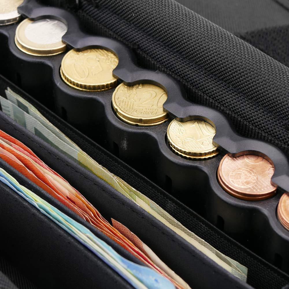 Borsa da Cameriere Portafoglio di Moneta di Euro e Banconote con multicomparto e cintura magnetico PrimeMatik
