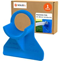 SOLIDfy® - 1 soporte para manguera de piscina de 26 mm - 38 mm, de plástico en color azul para…