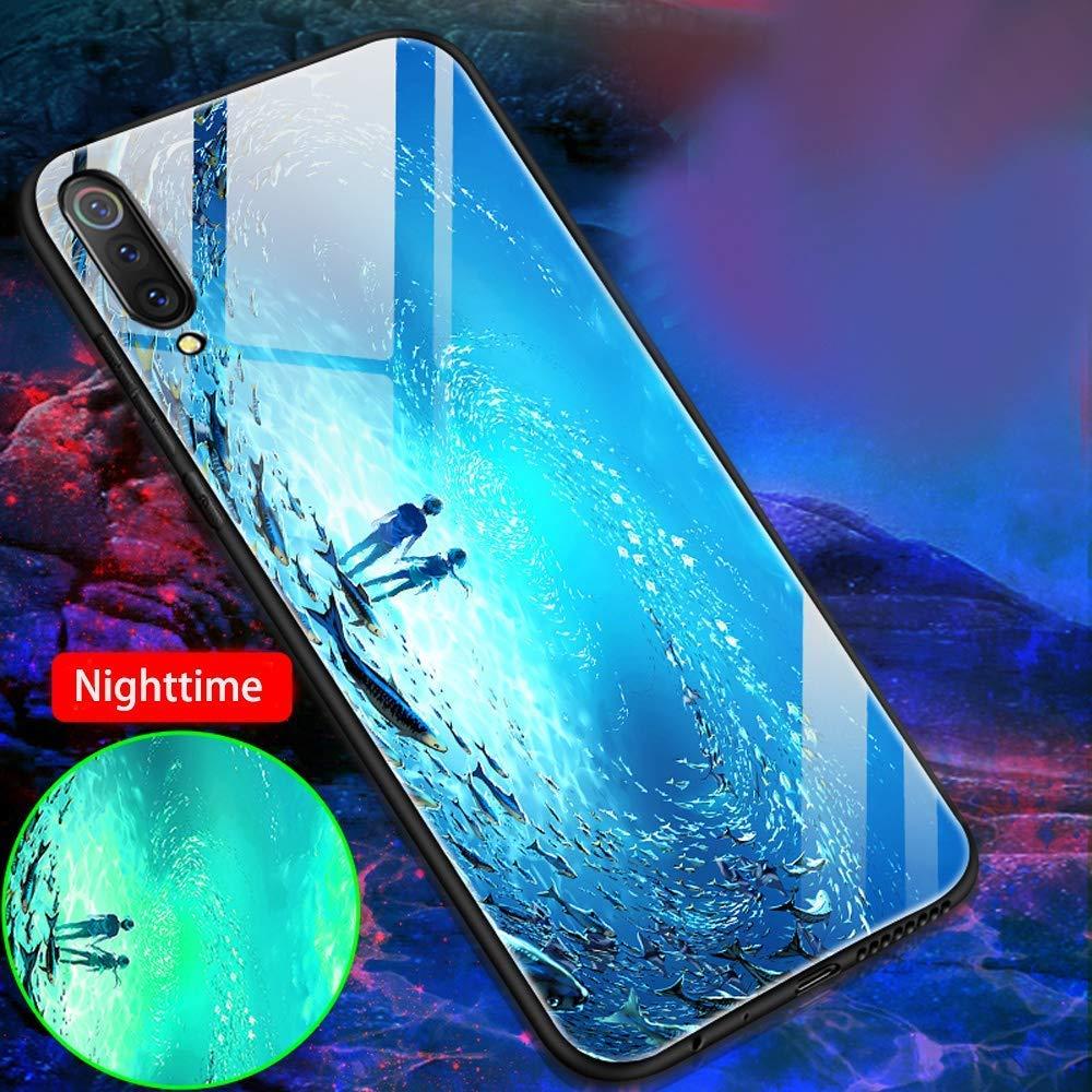 Cover Silicone Nottilucenti Luminoso Cristallo Case Vetro Temperato 3D Fluorescente Ultra Sottile Protettiva Antiurto Backcover Alce Custodia Huawei Mate 20 PRO Cover Huawei Mate 20 PRO