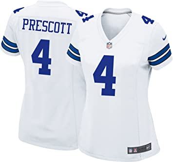Amazon.com   Dallas Cowboys Womens Dak Prescott Nike White Game Replica  Jersey   Sports   Outdoors f062af89e