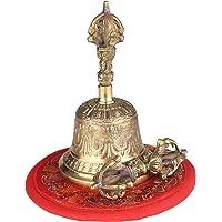 Tomshin Sino budista tibetano sino de mão de bronze com acolchoamento Vajra para oração de meditação