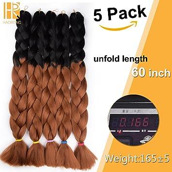 Amazoncom Haorong Ombre Synthetic Kanekalon Jumbo Braids Hair