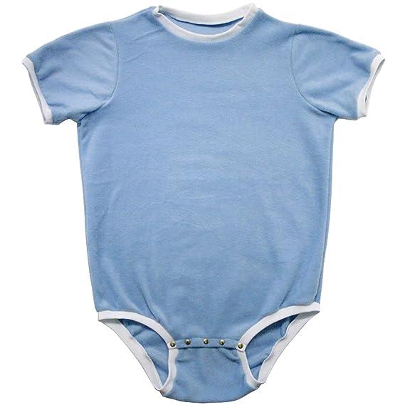 2b713ca5a166 Cuddlz Short Baby Blue Fleece Adult Onesie Baby Grow Romper ABDL ...