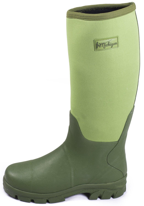 Michigan - Bottes de pluie en néoprène - imperméable - boue agriculture  pêche  Amazon.fr  Sports et Loisirs 111f982c71b6