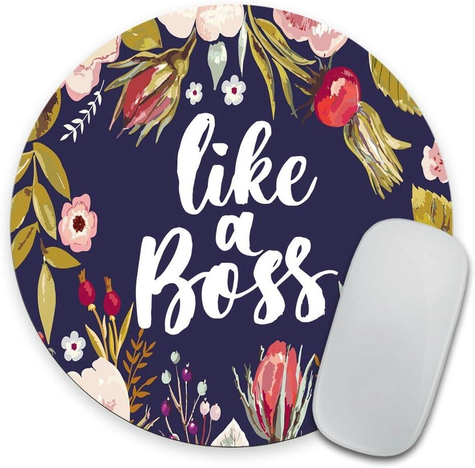 Like a boss Mouse pad, Desk Accessories, Mousepad, Desk Decor Office Decor, Floral Mouse pad, Dorm Decor, Floral Mousepad Girl boss