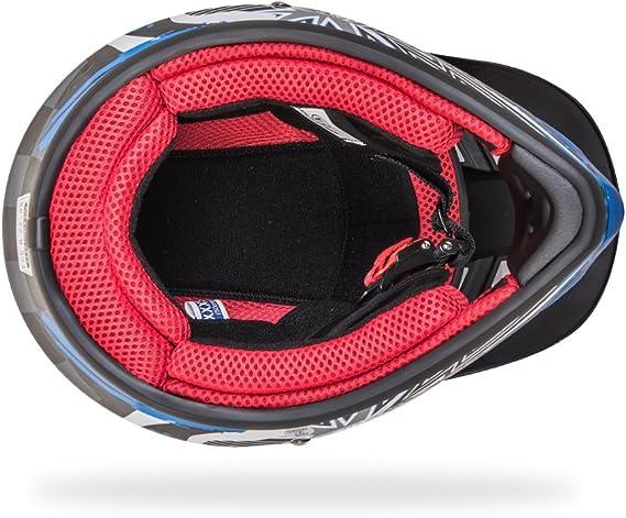 Noir Bleu, XS 53-54CM NENKI NK-303 Casque de Moto Tout-Terrain pour Enfants,ECE Homologu/é
