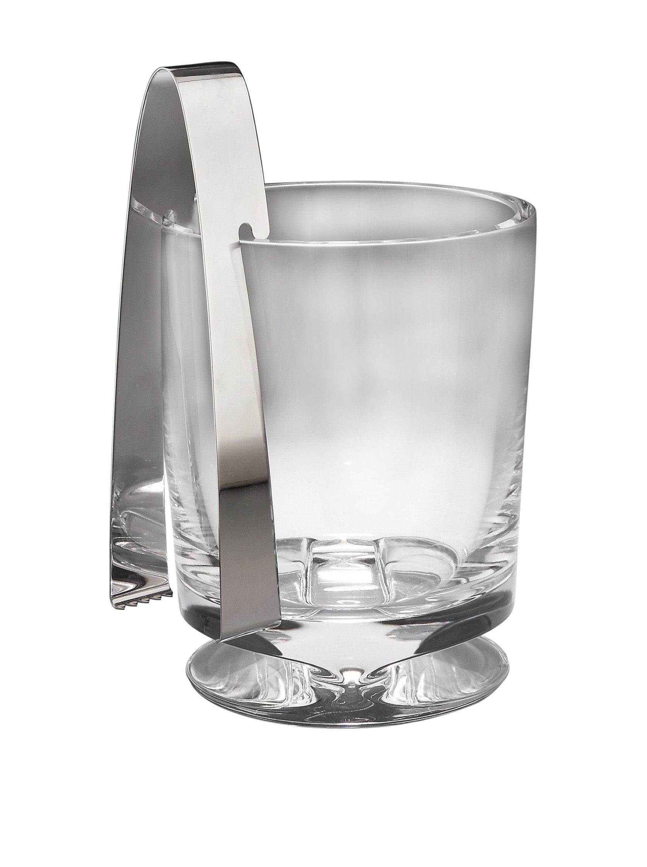 Nambe Groove Ice Bucket with Tongs