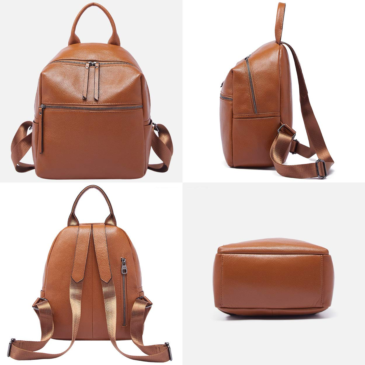 BOYATU Genuine Leather Backpack Purse for Women Anti-theft Small Shoulder Bags by BOYATU (Image #2)