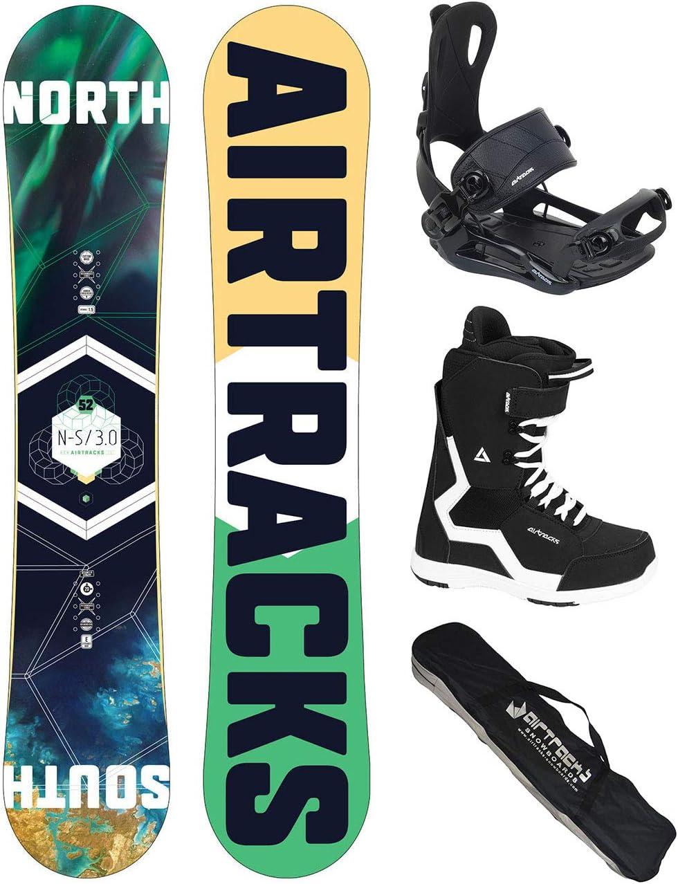 AIRTRACKS Snowboard Set (Paquete Completo) Tabla North South Wide ...