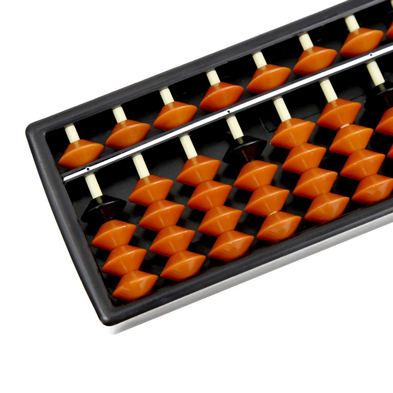 Beetest Plastica Abaco Bambini 15 Cifre Plastica Abacus Soroban Calcolatrice Aritmetica Matematica Impara Gli Strumenti per Studenti della Forniture Scuola