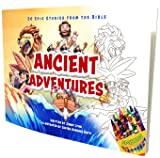 Ancient Adventures: 20 Epic Stories from The Bible, Coloring Book Edition – Spreads God's Word Through Coloring Beautiful Biblical Scenes and Important Figures
