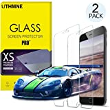 UTHMNE 2-Pack iPhone 6s / 6 Screen Protector Glass, 0.3MM Slim And 9H Hardness Bubble Free, Anti-Fingerprint, Oil Stain & Scratch Coating