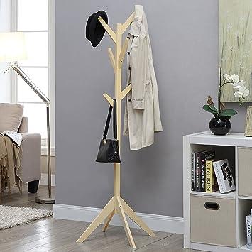 Garderobe Massivholz Boden Moderner Puristischer Kleiderbügel Schlafzimmer  Wohnzimmer Kleidung Rack Baumform Haushalt Kleidung Rack Pfirsich Farbe