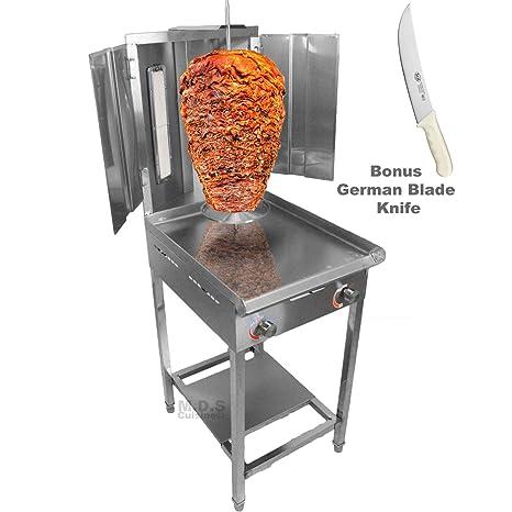 Amazon.com: Trompo Para Tacos Al Pastor Quemador de gas ...