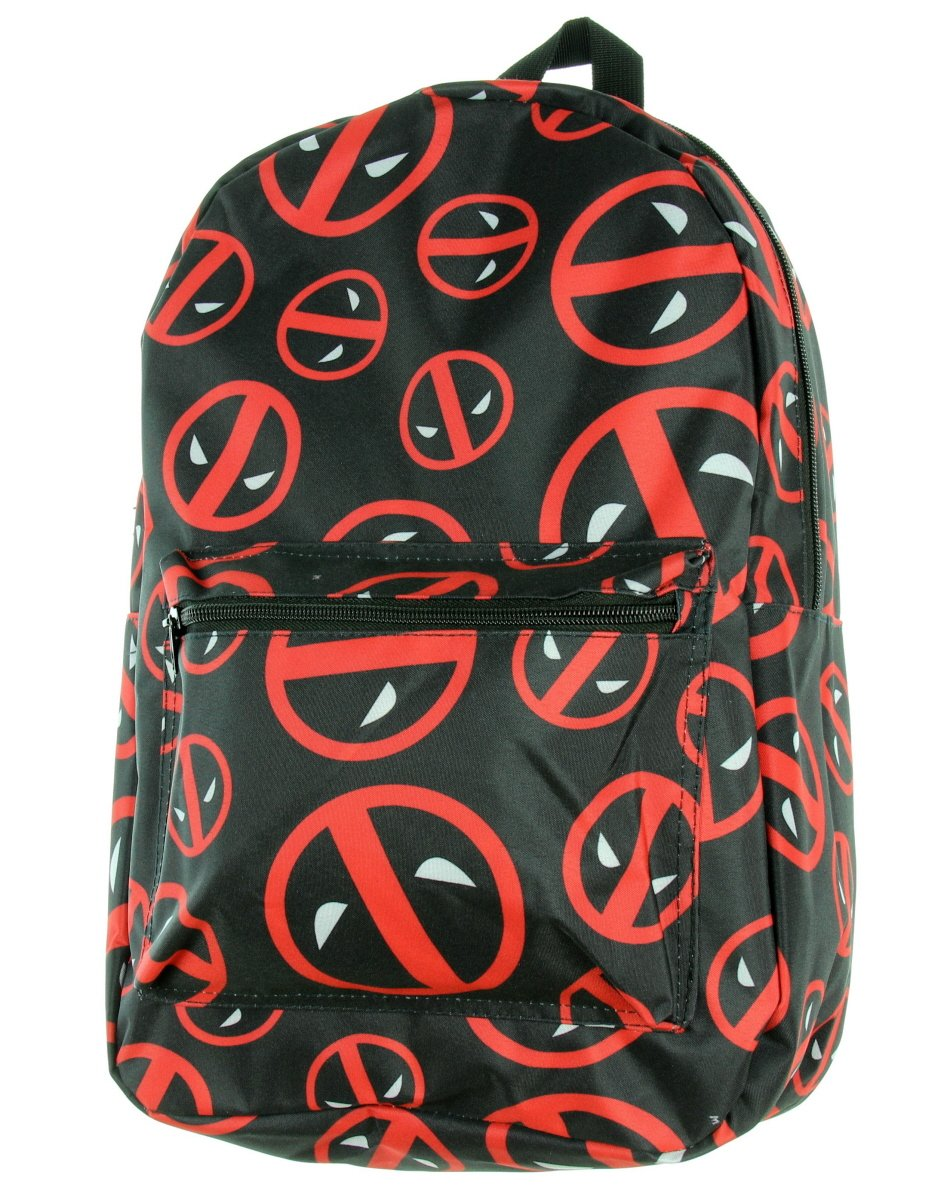 bioWorld Marvel Deadpool Symbol Logo All Over Print Backpack by bioWorld