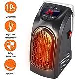Handy Heater - 350W Mini Portátil Estufa Eléctrico Calefactor Cerámicos Calefacción de Pared Termoventilador con Digital