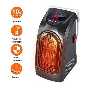 Handy Heater - Gesundhome 350W Mini Portátil Estufa Eléctrico Calefactor Cerámicos Calefacción de Pared Termoventilador con