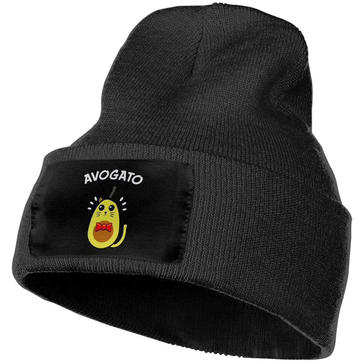 Men /& Women AVO-Gato Avocado Cat Outdoor Stretch Knit Beanies Hat Soft Winter Skull Caps