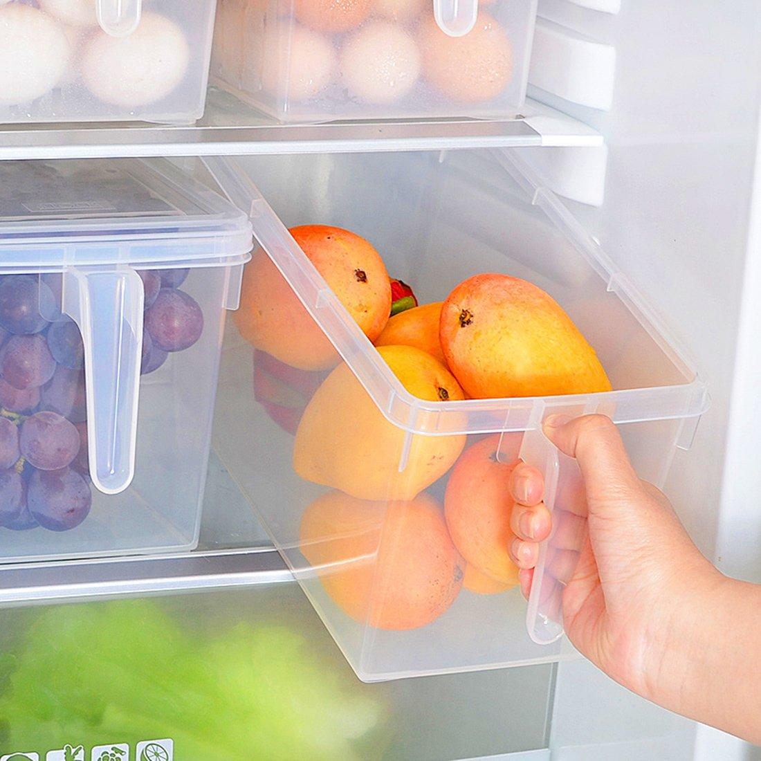 sannix 2pcs cocina, despensa, frigorífico, congelador recipiente ...