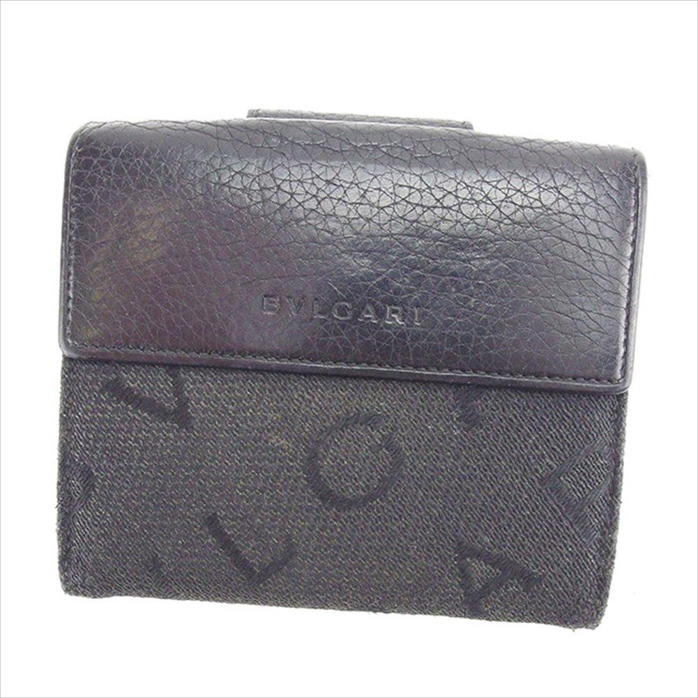 (ブルガリ) Bvlgari 二つ折り財布 Wホック財布 ブラック ロゴマニア レディース 中古 C2021   B01M1RXYCS