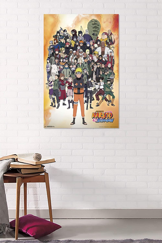 Trends International Naruto Shippuden Unframed Version Group Wall Poster 22.375 x 34