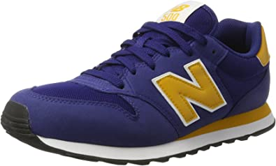 New Balance Gm500, Zapatillas para Hombre, Azul (Blue/yellow), 44 EU: Amazon.es: Zapatos y complementos