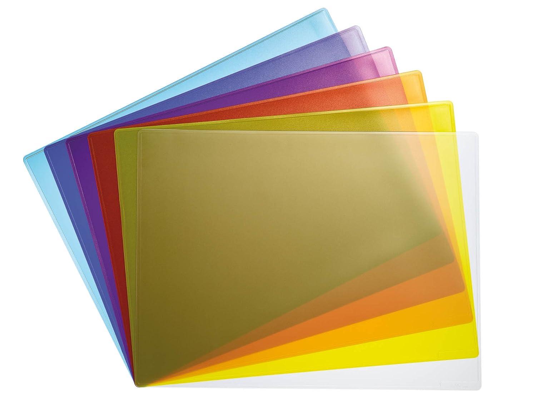 DURABLE 711119 - Sottomano per sale conferenze, antiriflesso, antiscivolo, 420x300 mm, trasparente