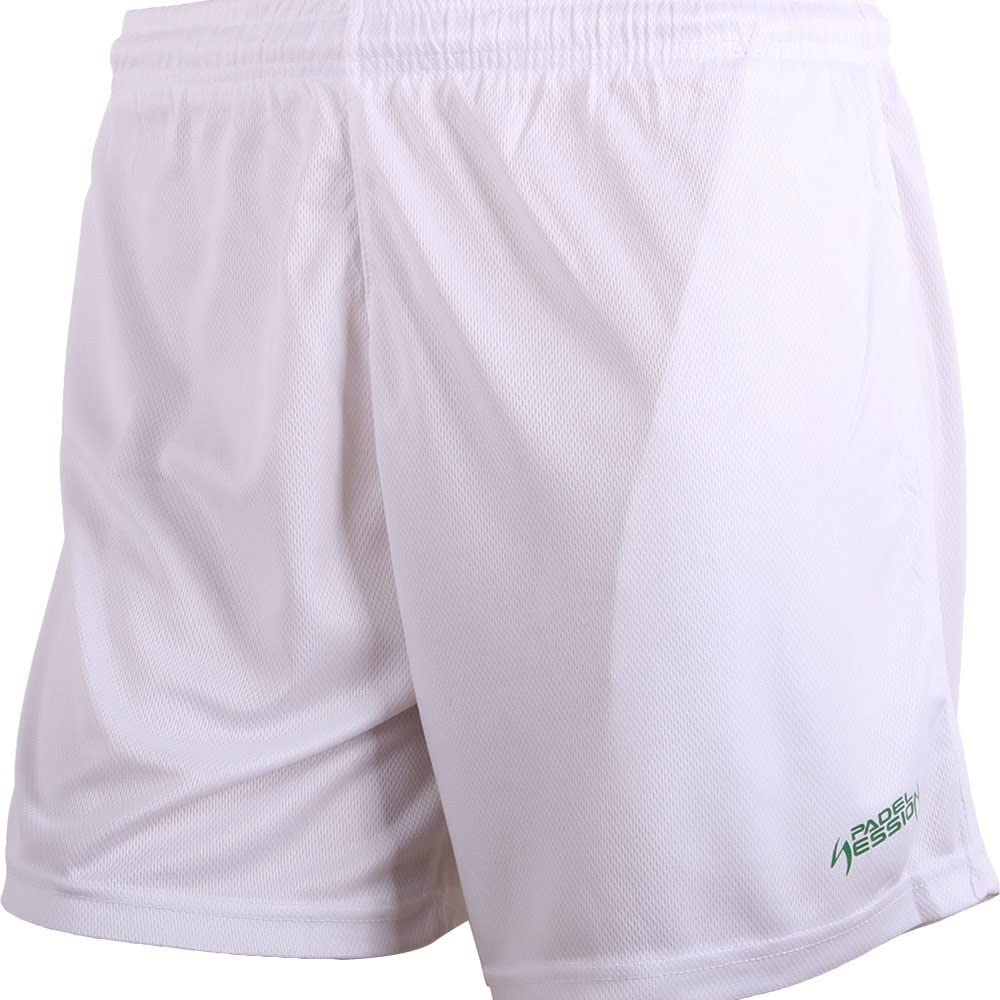 Padel Session Pantalon Corto Tecnico Blanco: Amazon.es: Deportes y ...