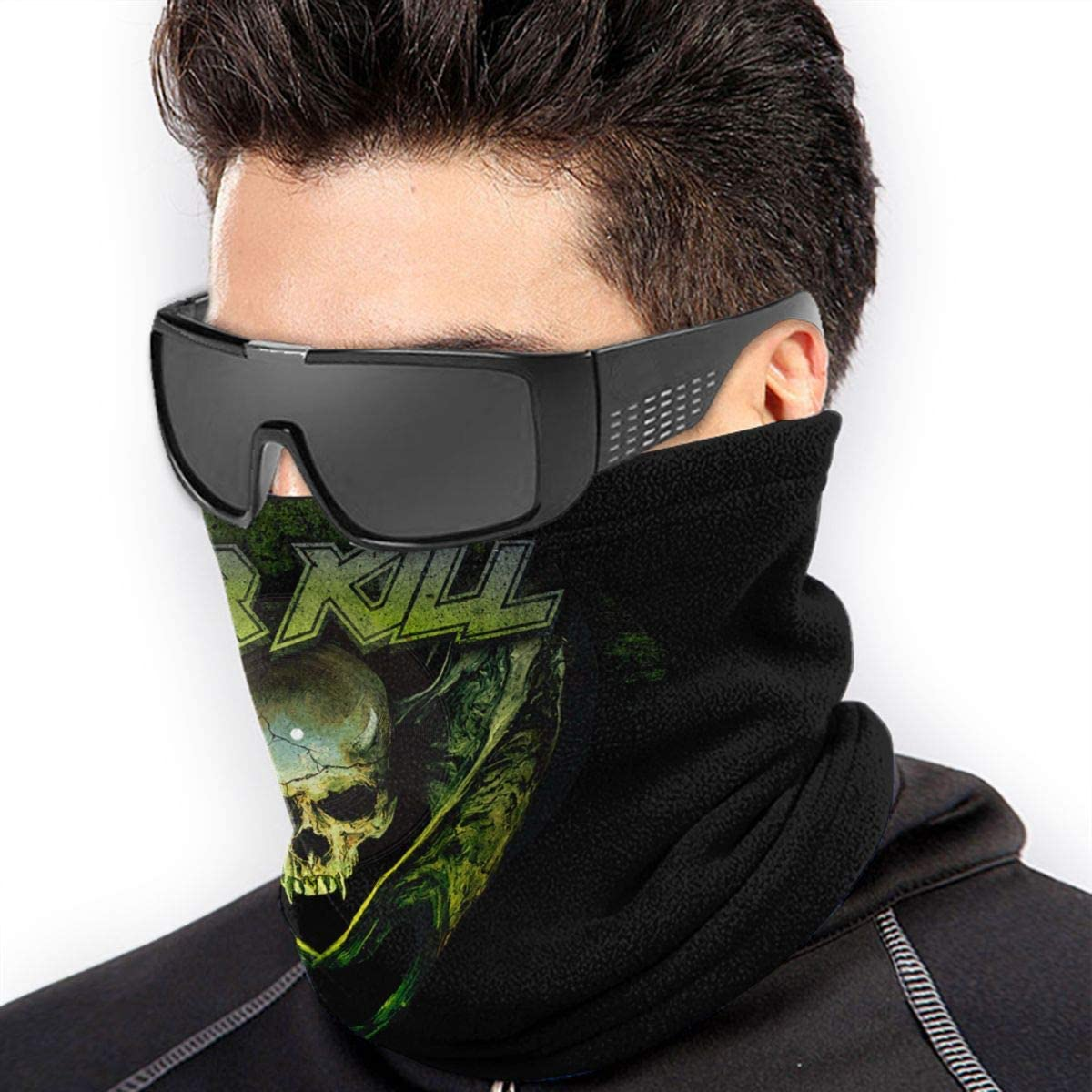 Overkill Highly Elastic Warm Microfiber Neck Thermal Mask Scarf Unisex Windproof Suitable For Winter