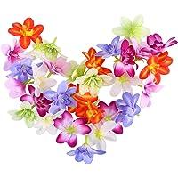 Lurrose 30 unids Colorido Orquídea de Seda Artificial