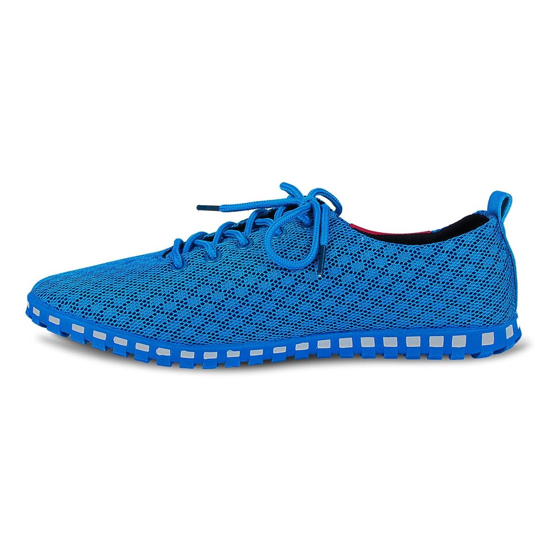 Eastiano - Zapatos de cordones de Caucho para hombre 42 EU, color azul, talla 42 EU